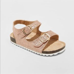 Cat & Jack Rose Gold Tisha Flatbed Sandal